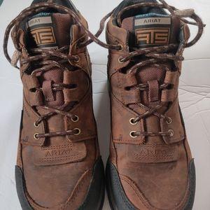 Ariat men's leather waterproof work boots , 8.5D